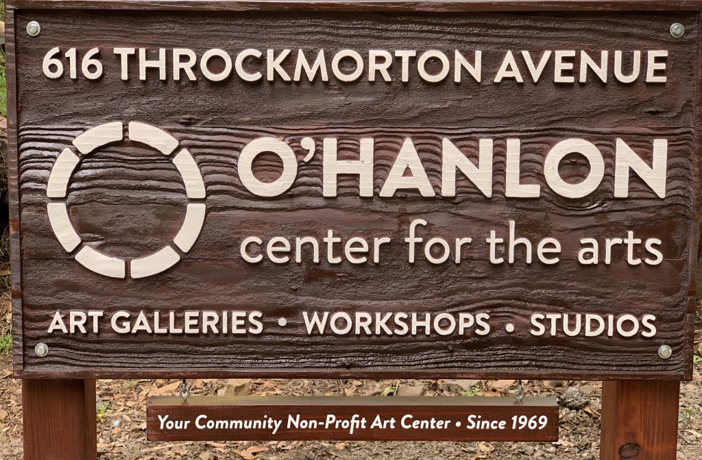Photo of Street Sign: O'Hanlon Center for the Arts