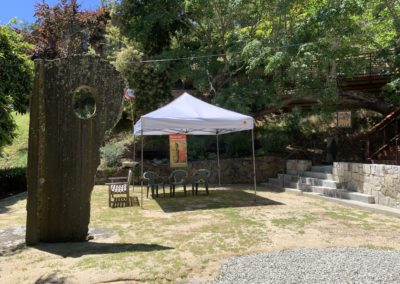 Lower garden with tent for special event