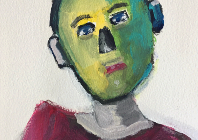 "Diane Goldstein, ""Selfie During Corona #2"" – $75"