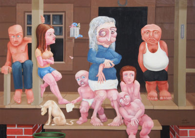 "Bob Jolly, ""Mother of Sorrows"", Acrylic, 48x60, $5000"