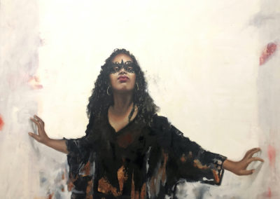 "OscarLopez,""Emergent"",oilon    canvas,36 x 48,$2800"