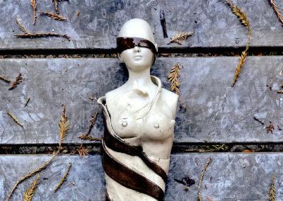 """JayOneil,""""Suppression"""",ceramics, 22 x 4 x 4,$400"""
