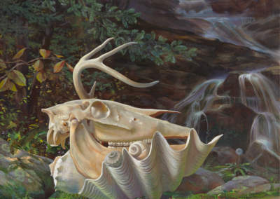 "Ann Getsinger, ""Sylvanus"", oil on linen, 40 x 40, $15,000"
