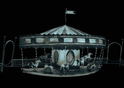 "Barbara Hazen, ""Carousel Rides"", cyanotype over platinum palladium, 4 x 6, $600"