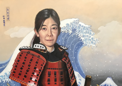"Edi Matsumoto, ""Bugeisha"", oil on canvas, 40 x 30, $4,000"