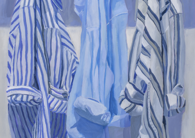 "Carla Roth, ""Stripes and Solid"", oil on panel, 42 x 22, NFS"