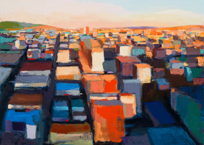 "Andrew Faulkner ""City-Light"" Oil on Canvas"" 60x72, $7000"