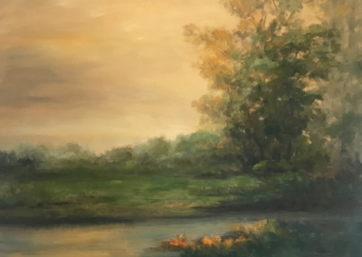 "Jan Buscho ""Crepuscule 36"" Oil on Board, $775"