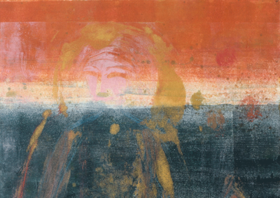 Traveler II, monotype, 26 x 19, 2018-2019