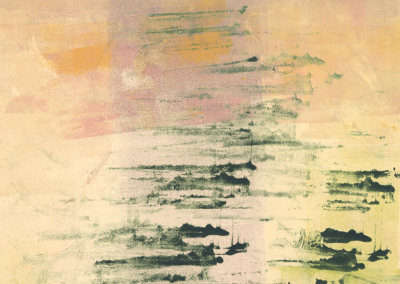 Beyond the Village, monotype, 30 x 22, 2020