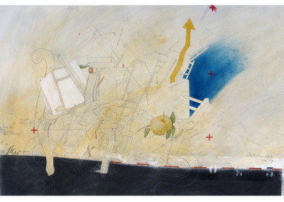"""Fred Birchman, """"Home Stay"""" Mixed Media Drawing on Paper, 25x38, $3000"""