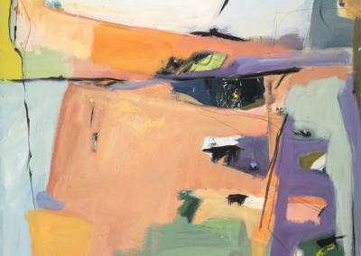 "Ann Artz, ""Bullish"" Acrylic on Canvas 60x40 $3000"