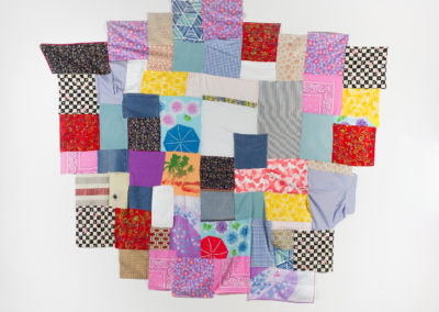 "Alexandra Bailliere, ""Tiger King Binge Watch"" Fabric, Cotton Thread 72x72 NFS"