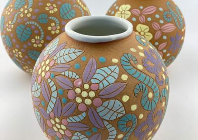 "Tina Fossella, ""Flowerpot"" Clay 7X6 $100"