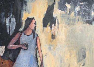 "Ayelet Gal-on, ""City Girl"" Mixed Media 40x30 $2640"