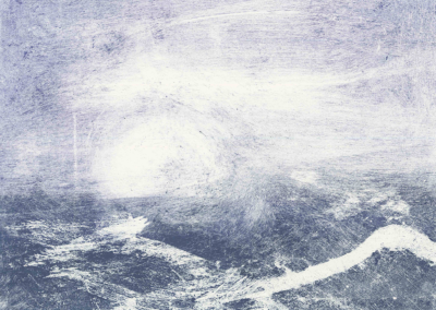 "J. Ruth Gendler, ""Sea"" Monotype 17 x14 $450"