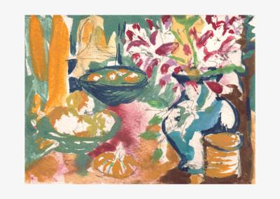 """Brett Hopper, """"Cascade Interior"""" Watercolor 5x4 NFS"""