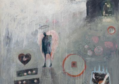 "Phyllis Jenkins, ""Angel Overlook"" Mixed Media 36x36 $1525"