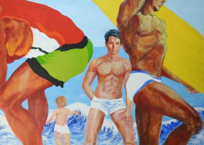 "Barbara Leitzel, ""Zuma 2"" Acrylic on Canvas 36x48x1 $700"