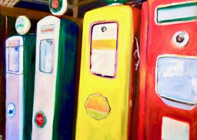 "Linda Maki, ""Dino"" Oil on Canvas 16x20 $500"