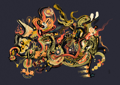 "Leonardo Nino, ""The Rebellion of a Wild Spirit"" Digital Painting 18x24 $500"