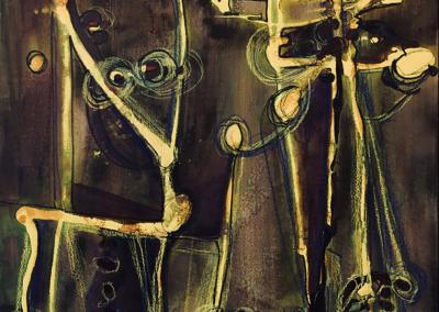 """Elise Odom, """"Dance, Dance, Dance"""" Acrylic 24x20 $950"""