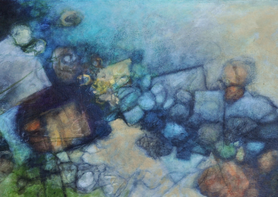 "Woodward Payne, ""TRILIUM 8"" Acrylic On Canvas 24x48 $4000"