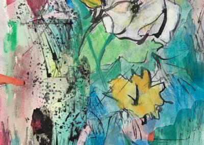 "Carolyn Planakis, ""Untitled"" Mixed Media 10x14 NFS"