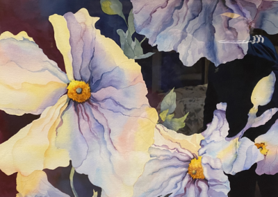 "Carrie Sherriff, ""Matilija Poppy"" Water Color 20x29 NFS"