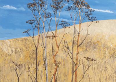 """Jeremy Thornton, """"Wild Gold"""" 32x32 Acrylic $975"""