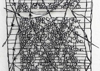 """Ellen Bepp """"My Will"""" Hand cut paper, 19x17 NFS"""