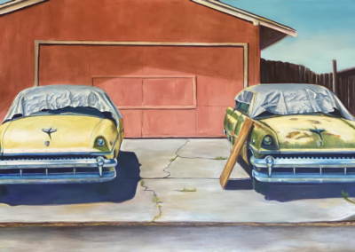 "Sandra Cassayre ""We Had Plans"" Acrylic on canvas, 36x60 $4000"