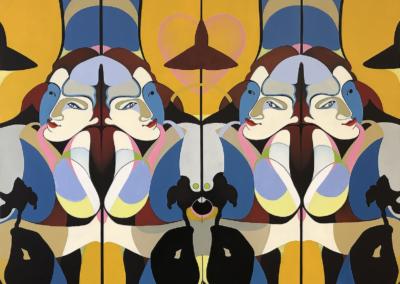 "Francoise Drouillet ""Mediterranean"" Oil on canvas, 36x48 NFS"