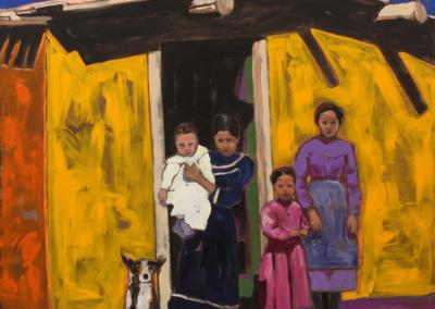 "Edward Gonzales ""We Who Endure"" Acrylic on canvas, 48x48 $9800"