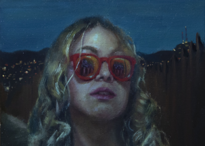 "Oscar Lopez ""Soñadora"" Oil On Canvas, 14x11 SOLD"