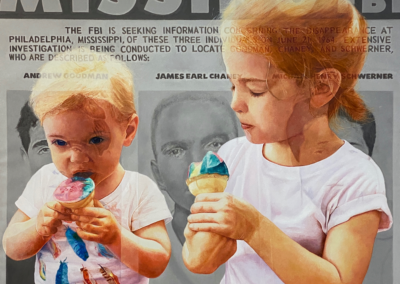 """Stephen Mangum Illusions of My Childhood Series No. 4 """"Freedom Summer"""" Oil on linen, 72x80 $25000"""