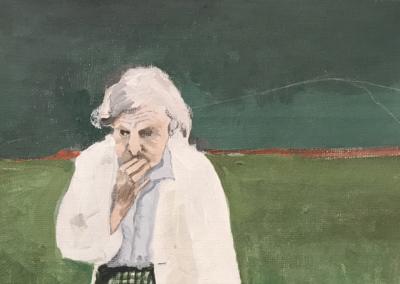 "Shamy Noily ""4th of July, Washington Square Park 1961"" Acrylic on Canvass, 10x7.5 $800"