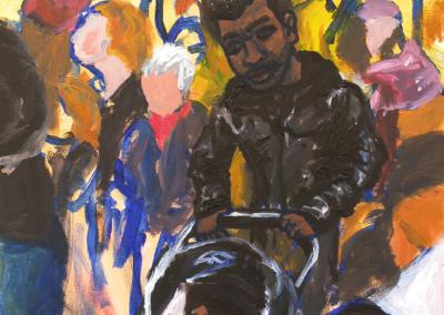 "Rachel Ungerer ""Daughters March"" Acrylic Paint on Canvas, 28x22 $550"