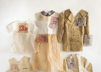 "Susan Zimmerman ""New Land"" Mixed media: paper, cardboard, linen, acrylic paint, 92x70x24 $2000"