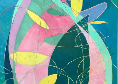 "Lotus petals, oil on canvas, 40 x 30"", $900"