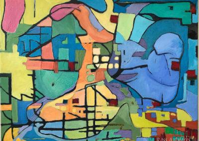 "Tango, oil on canvas, 12 x 16"", $650"