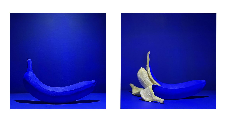 "Dan Cassidy ""Blue Fruit #5  - Banana"" Photo, 12x24 $375"