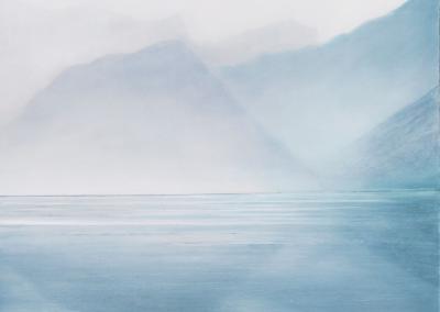 "Rhea Cutillo ""Ocean View, Untitled"" Oil on Wood, 36x36 $3200"