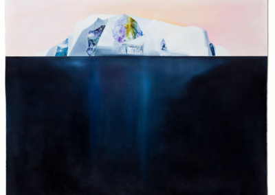 "Mary Lou Dauray ""Iceberg Sunset"" Acrylic on Gessoed Paper, 52x52 $595"