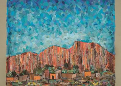 "Bernadette Freeman ""Hear the Echos"" Paper Collage, 18x18 $4000"