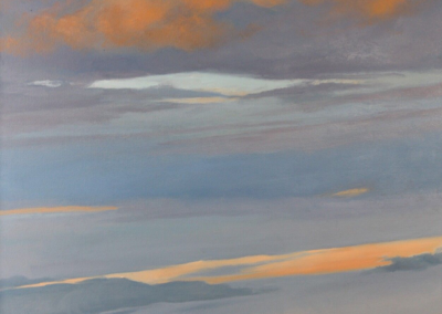 """Colleen Gregoire """"Cabezon Sunset"""" Oil on canvas, 36x24 $1950"""