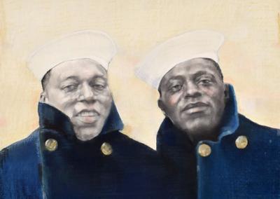 "Lori Brook Johnson ""Each Other"" Pastel & Graphite, 20x26 $700"