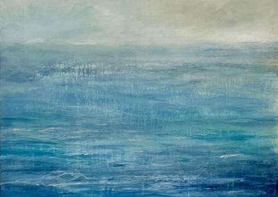 """Rebecca Katz """"La Mer"""" Acrylic on Canvas, 48x41 $2800"""