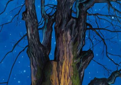 """David Carmack Lewis """"Carbon Capture"""" Oil on canvas, 60x30 $3000"""
