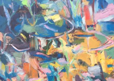 "Ken Marunowski ""Big Blue"" Oil on canvas, 60x48 $3700"